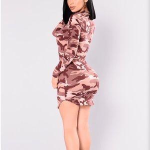 Fashion Nova Mauve Camo Tunic Dress - SIZE 1X